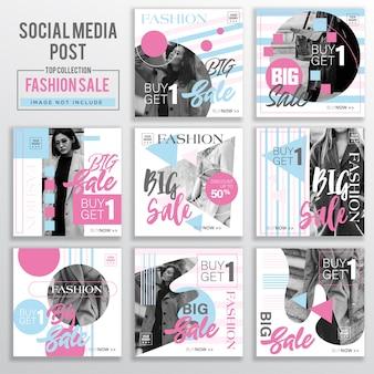 Collection de modèles de conception de publication de médias sociaux