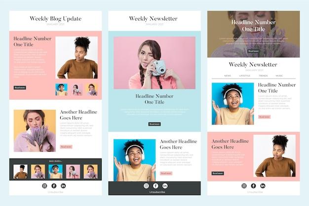 Collection de modèles de courrier électronique de blogueur