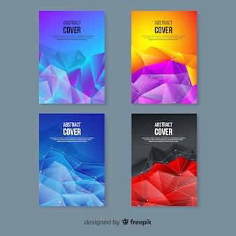 Collection de modèles de couverture de technologie colorée
