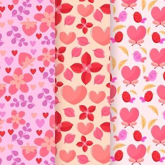 Collection de modèles de design plat valentines day