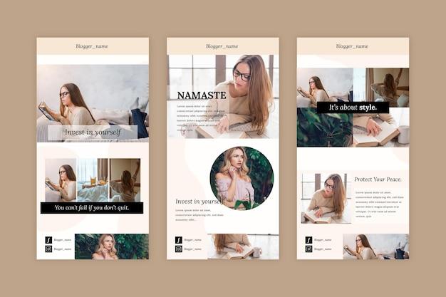 Collection de modèles d'e-mails blogger