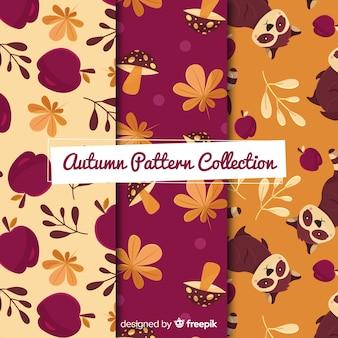 Collection de modèles d'éléments automne plat