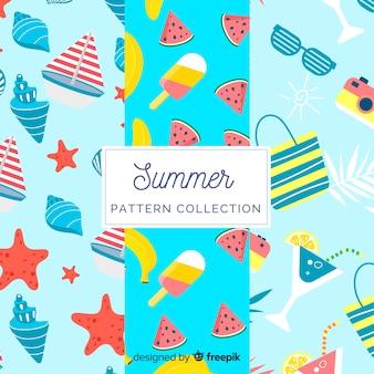 Collection de modèles d'été plat