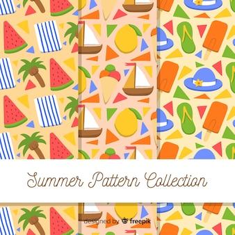 Collection de modèles d'été