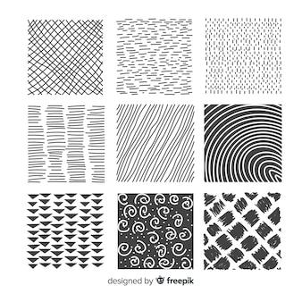 Collection de modèles de forme abstraite dessinés à la main
