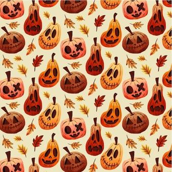 Collection de modèles d'halloween dessinés à la main