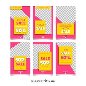 Collection de modèles d'histoires d'instagram de vente