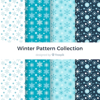 Collection de modèles d'hiver plat