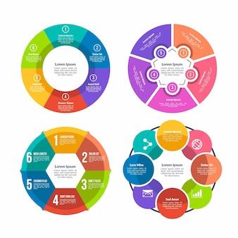 Collection de modèles d'infographie en anneau