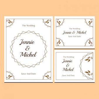 Collection de modèles d'invitations de mariage floral