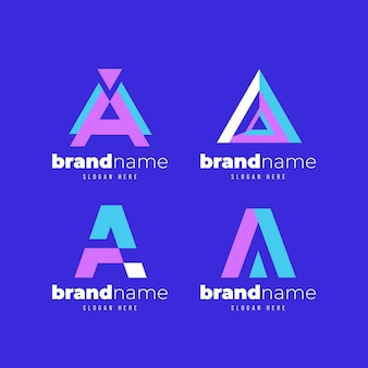 Collection de modèles de logo ai design plat