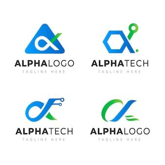 Collection de modèles de logo alpha dégradé