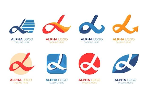Collection de modèles de logo alpha