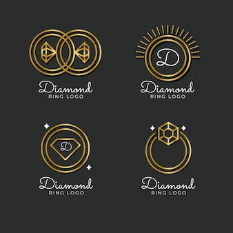 Collection de modèles de logo anneau dégradé
