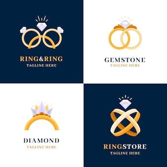 Collection de modèles de logo anneau plat