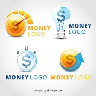 Collection de modèles de logo d'argent