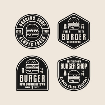 Collection de modèles de logo burger