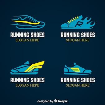 Collection de modèles de logo de chaussures de sport moderne