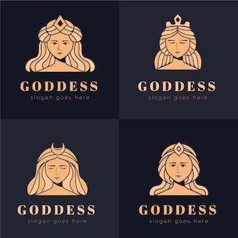 Collection de modèles de logo de déesse