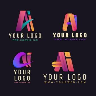 Collection de modèles de logo dégradé ai