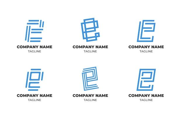 Collection de modèles de logo dégradé e