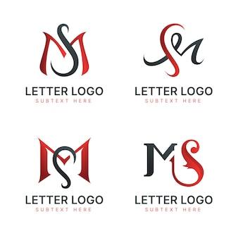 Collection de modèles de logo dégradé ms