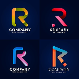 Collection de modèles de logo dégradé r