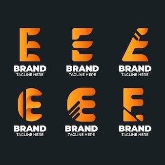 Collection de modèles de logo design plat e