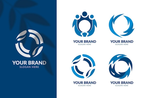 Collection de modèles de logo design plat o