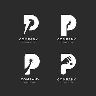 Collection de modèles de logo design plat p