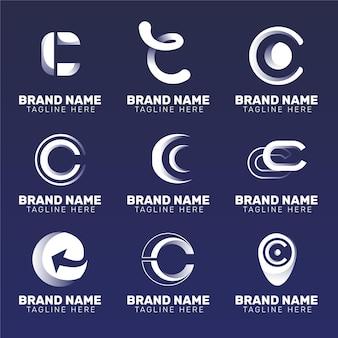 Collection de modèles de logo design plat c
