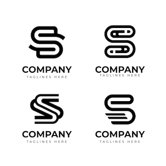 Collection de modèles de logo design plat