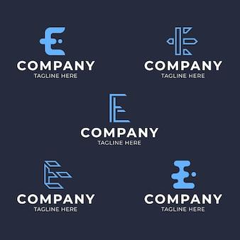 Collection de modèles de logo e design plat