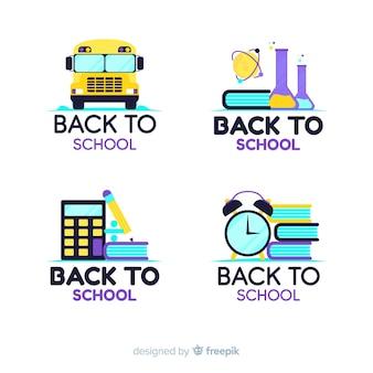 Collection de modèles de logo école plate