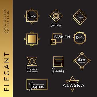 Collection de modèles de logo élégant