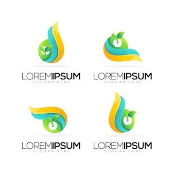 Collection de modèles de logo de feuille