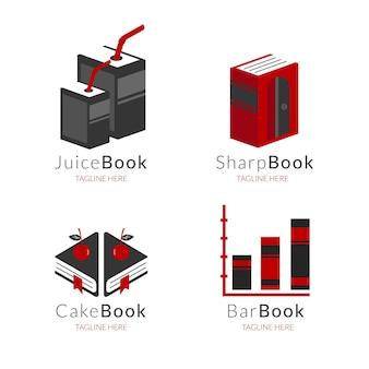Collection de modèles de logo livre plat