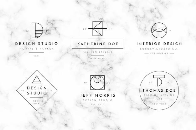 Collection de modèles de logo minimal