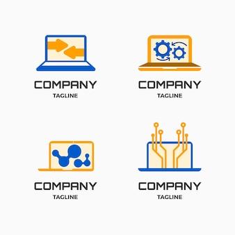 Collection de modèles de logo d'ordinateur