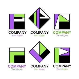 Collection de modèles de logo plat p