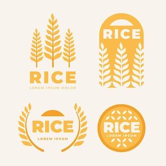 Collection de modèles de logo de riz