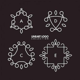 Collection de modèles logo simple lineart