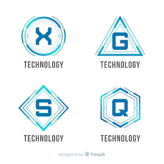 Collection de modèles de logo de technologie de dégradé
