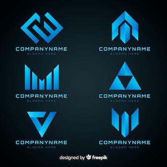 Collection de modèles de logo de technologie de dégradé