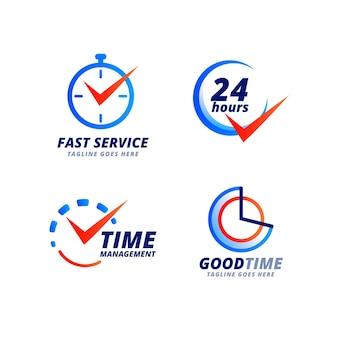 Collection de modèles de logo de temps dégradé