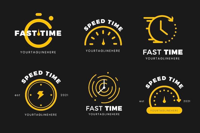 Collection de modèles de logo à temps plat