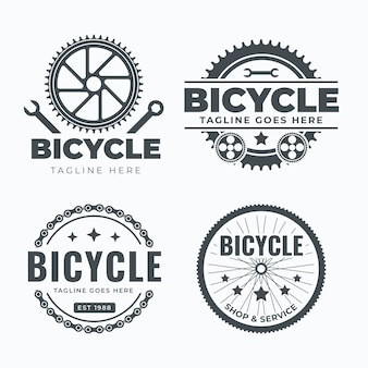 Collection de modèles de logo de vélo