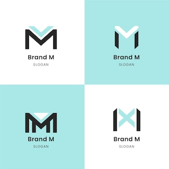 Collection de modèles avec logos m