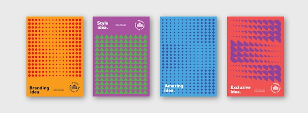 Collection de modèles de modèles pour la marque couvre l'affiche du paquet de mise en page de conception