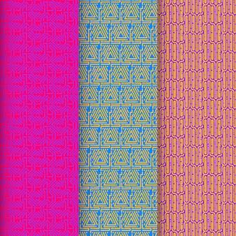 Collection de modèles de motifs de lignes arrondies